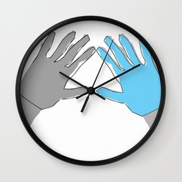 Perfection is Boring Wall Clock