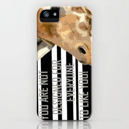 Giraffe pop art iPhone Case