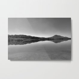 Sunrise At The Lake. Bw photography Metal Print
