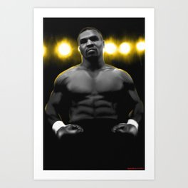 IRON MIKE TYSON Art Print