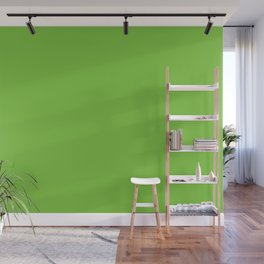 Dark Lime Green Retro Solid Color Accent Wall Mural