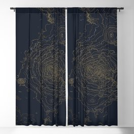 Mt. Shasta, California Topographic Contour Map Blackout Curtain