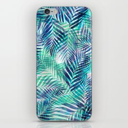 Palm Leaves - Indigo Green iPhone Skin