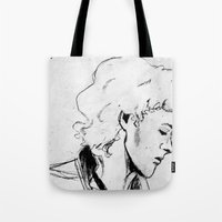 enjolras Tote Bags featuring Enjolras by Pruoviare