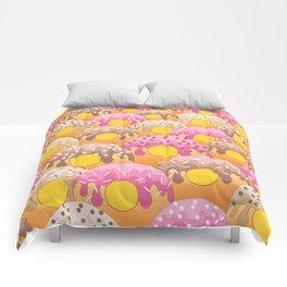 Donuts Wanderlust Yellow Gold Comforters