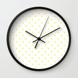 Small Yellow Polka Dots Wall Clock