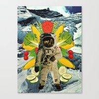 vegetable Canvas Prints featuring Vegetable Pack by michaelbuishas