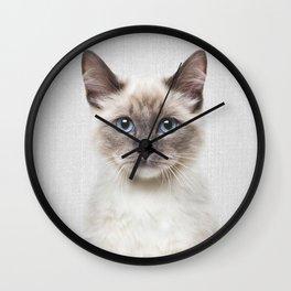 Cat - Colorful Wall Clock