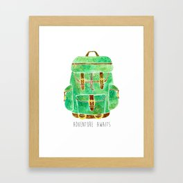 Backpack Adventure Framed Art Print
