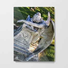 Grieving Angel 2 (Grove Hill Cemetery, Dallas TX) Metal Print