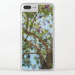 Spring Time Tree Clear iPhone Case