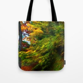 Fall Color Yard Full of Tree Branches Tote Bag