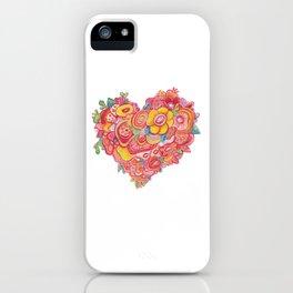 HEART FLOWER iPhone Case