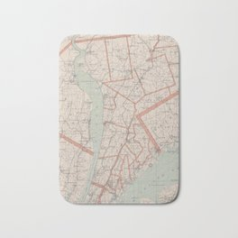 Vintage Map of Westchester County NY (1893) Bath Mat