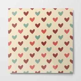 Christmas love candy Metal Print