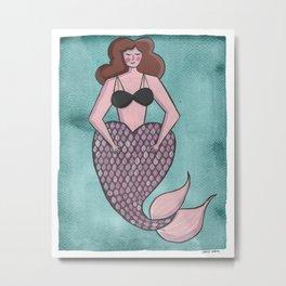 Vintage Mermaid Metal Print
