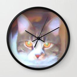 Golden Eyes Wall Clock