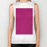 jazzberry blue Biker Tanks featuring Jazzberry jam by List of colors