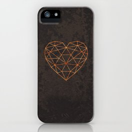 COPPER HEART iPhone Case
