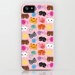 Cats Love String I iPhone Case