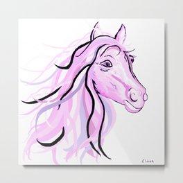 Pretty Pink Pony Metal Print