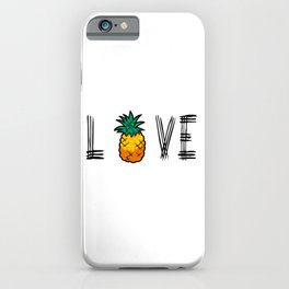 Love Pineapple iPhone Case