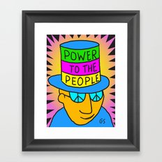 Power to the People Framed Art Print