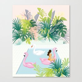 relaxing at resort Canvas Print
