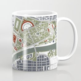 Seville city map engraving Coffee Mug