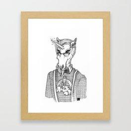 Ironic Hipster Unicorn Framed Art Print