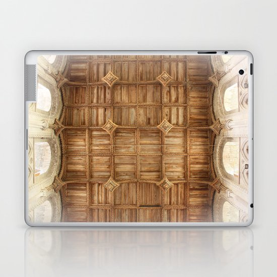 Wooden church ceiling  Laptop & iPad Skin