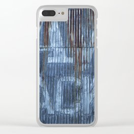 RUSTY CLADDING Clear iPhone Case