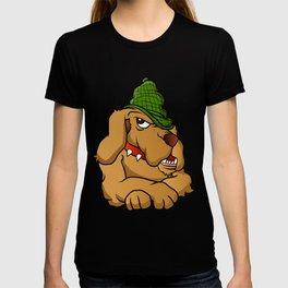 detective dog cartoon T-shirt