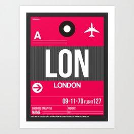 LON London Luggage Tag 2 Art Print