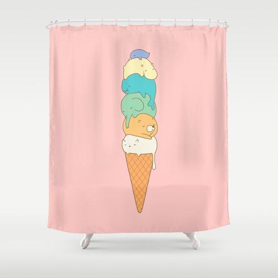 Melting Shower Curtain