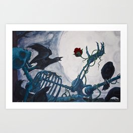 The Moon Asked The Crow Art Print