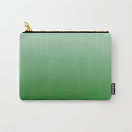 Pastel Green to Green Horizontal Linear Gradient Carry-All Pouch