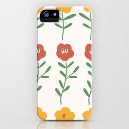 'My little yellow flower' - Gouache paint iPhone Case