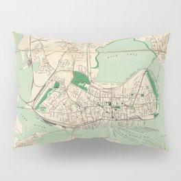 Vintage Map of Portland ME (1906) Pillow Sham