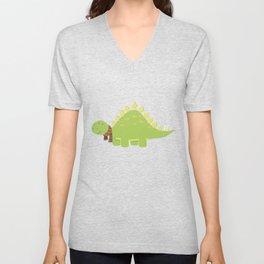 ScarfTegosaurus Unisex V-Neck