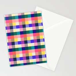 Summer Plaid Stationery Cards