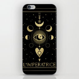 L' Imperatrice or The Empress Tarot Gold iPhone Skin
