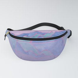 Mountain Reflection in Water - Pastel Palette Fanny Pack