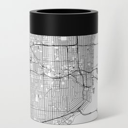 Miami White Map Can Cooler