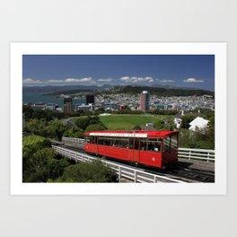 Wellington, NZ Art Print