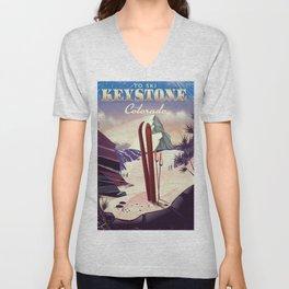Keystone Colorado Ski poster Unisex V-Neck