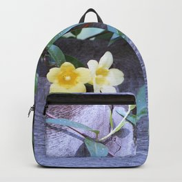petite yellow flowers Backpack