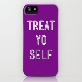 Treat Yo Self Purple - Parks and Recreation iPhone Case