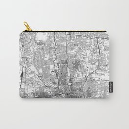 Columbus White Map Carry-All Pouch