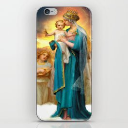 Our Lady of the Angels clouds iPhone Skin